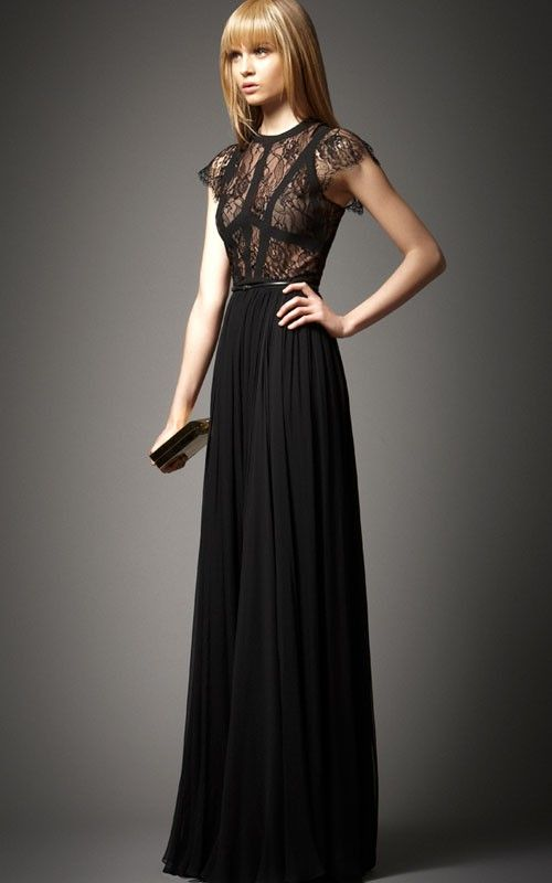 2014 Elie Saab Terra Black BCBG Prom Dress