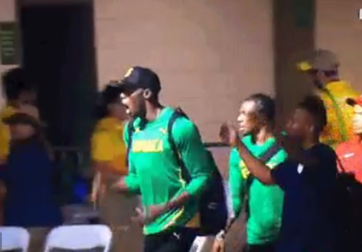 Usain Bolt's reaction to Wayde van Niekerk breaking the world record is everything  Freaking out. http://www.thesouthafrican.com/usain-bolts-reaction-to-wayde-van-niekerk-breaking-the-world-record-is-everything-video/