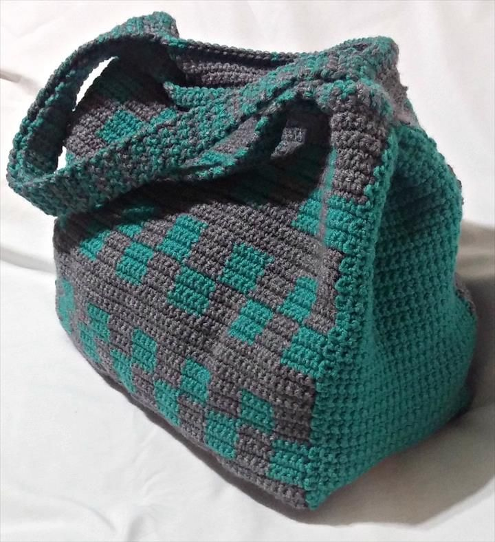 Handmade Knitting Bag Pattern : Best 25+ Crochet tote ideas on Pinterest Crocheting ...