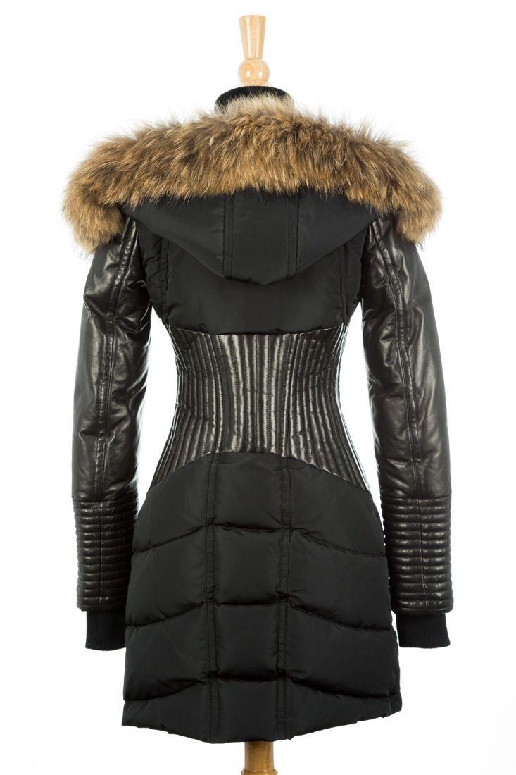 100% AUTHENTIC Rudsak Shauna Black Down Fur Leather Coat Women Size XS | Clothing, Shoes & Accessories, Women's Clothing, Coats & Jackets | eBay!