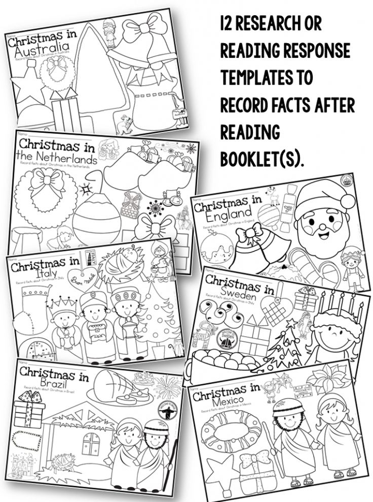 Christmas Around the World writing prompts, crafts and printable activities