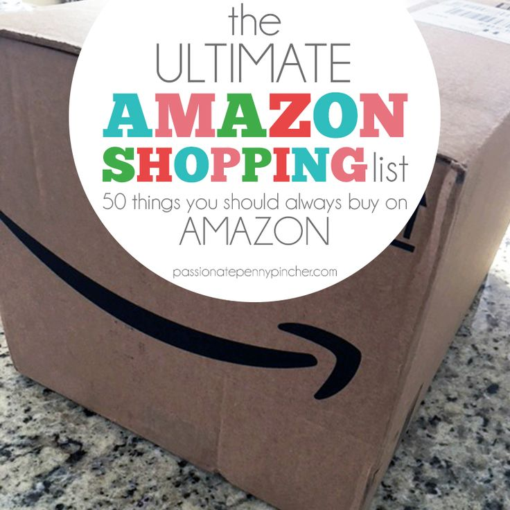 The Ultimate Amazon Shopping List: 50 Things You Should *Always* Buy On Amazon. Passionate Penny Pincher is the #1 source printable & online coupons! Get your promo codes or coupons & save.