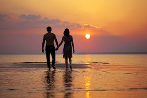 Walking on the #beach at #sunset hand in hand