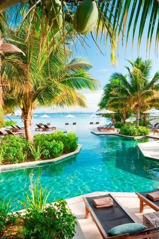 Outdoor pool at Likuliku, Fiji