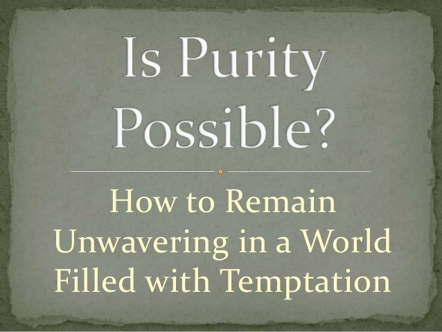 Is purity possible in this day and age? United Faith Church in Barnegat New Jersey answers some tough questions on how to live in purity and describes how to remain unwavering in a world filled with temptation. For more info please visit www.unitedfaithchurch.org. #Purity #RemainingPure