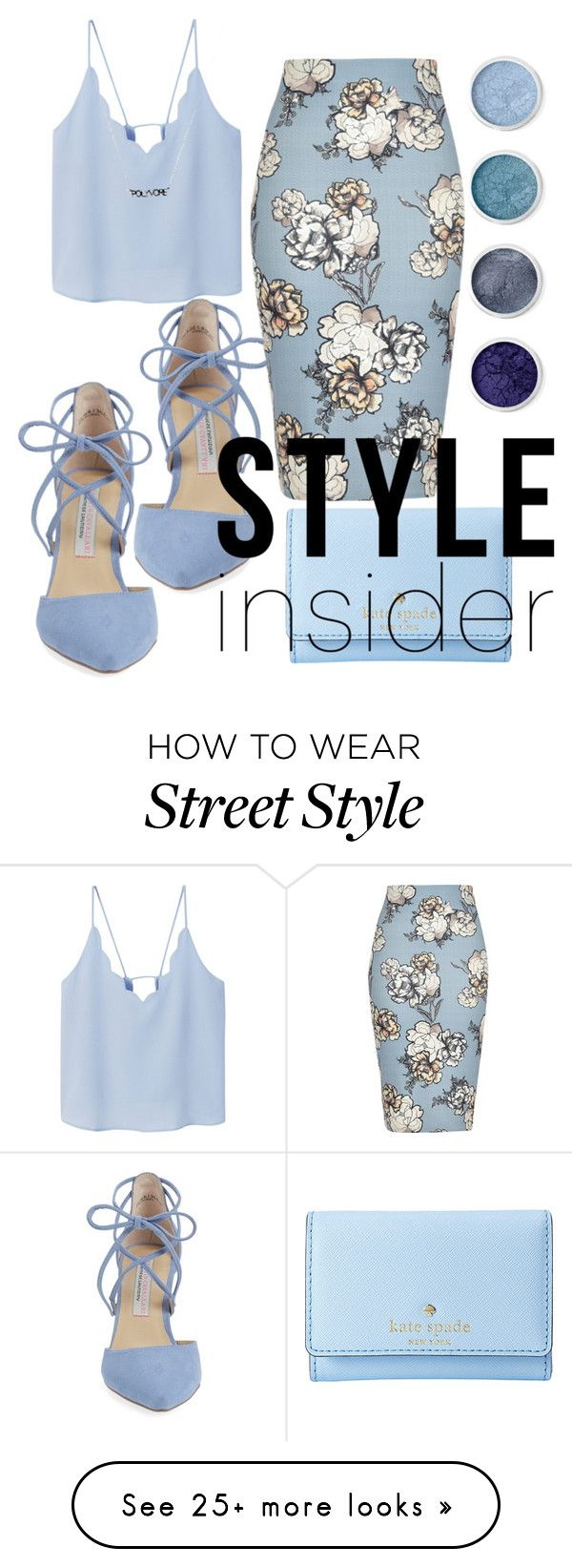 """Blue Style Insider"" by chubbygirlindreamland on Polyvore featuring Kate Spade, Kristin Cavallari, River Island, MANGO, Terre Mère, contestentry and styleinsider"