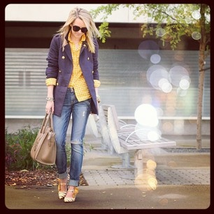 :: blue/yellow ::Yellow Gingham, Half Tuck, Colors Combos, Fashion, Blue Yellow Nic Colors, Color Combos, Style, Cute Outfits, Instagram Photos