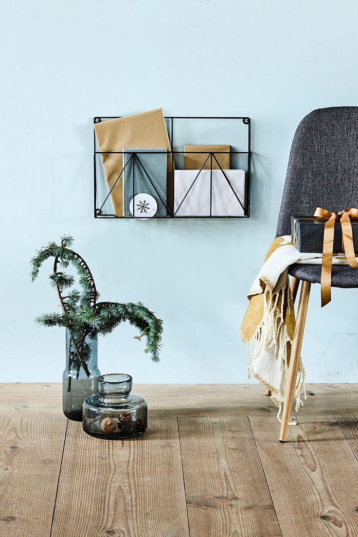 Wall-mounted magazine rack Both decorative and practical – a combination that Clara is particularly fond of.  Price per item £7.28