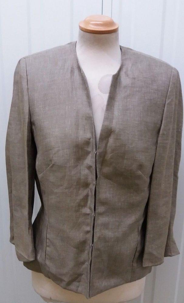 Austin Reed Ladies Formal Linen Blazer Jacket Size 10 Blazer Blazers Jacket Jackets Womensfashion Womenswear Womens Linen Blazer Linen Clothes Jackets