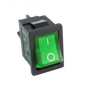 Wyłącznik podświetlany 12V (Zielony)