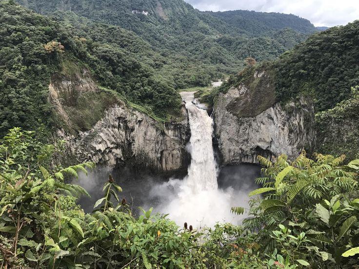 Cascada San Rafael in Tena Ecuador [OC] [3264x2448]