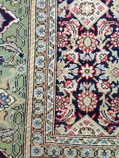 Superbe tapis Persan en laine et soie : Ghom 145x215 cm
