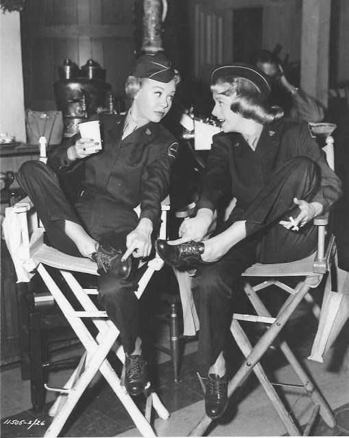 White Christmas 1951 On the Set: Vera-Ellen & Rosemary Clooney