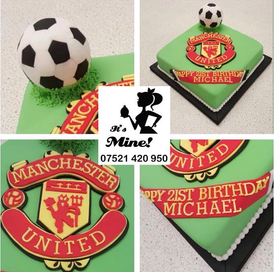 Manchester United birthday cake by It's Mine Cakes