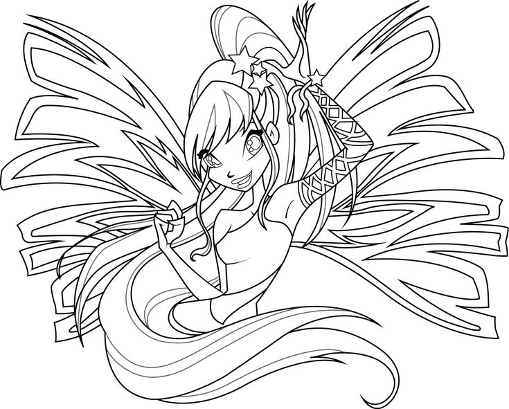Yes I Like The Winx Club Its My Guilty Pleasure Stella Sirenix Coloring Page