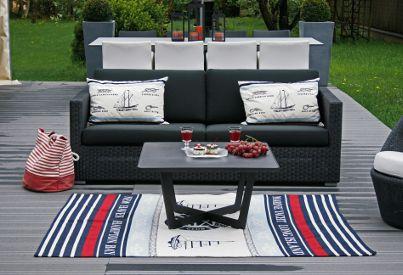 Sofa Chester Lounge  Cane-line; Fotel Kingston  Cane-line; stolik Time Out Cane –Line;