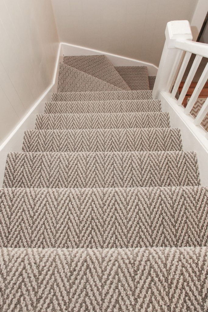 Brown And Beige Pattern Carpet Staircase Patterned Stair Carpet | Textured Carpet On Stairs | Floral | Wide Stripe | Short Cut Pile | Stylish | Brown