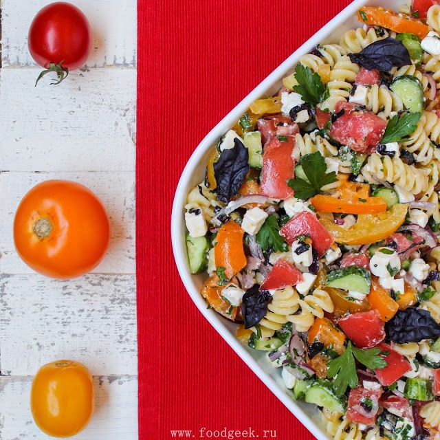 food geek: Летний салат с макаронами и фетой