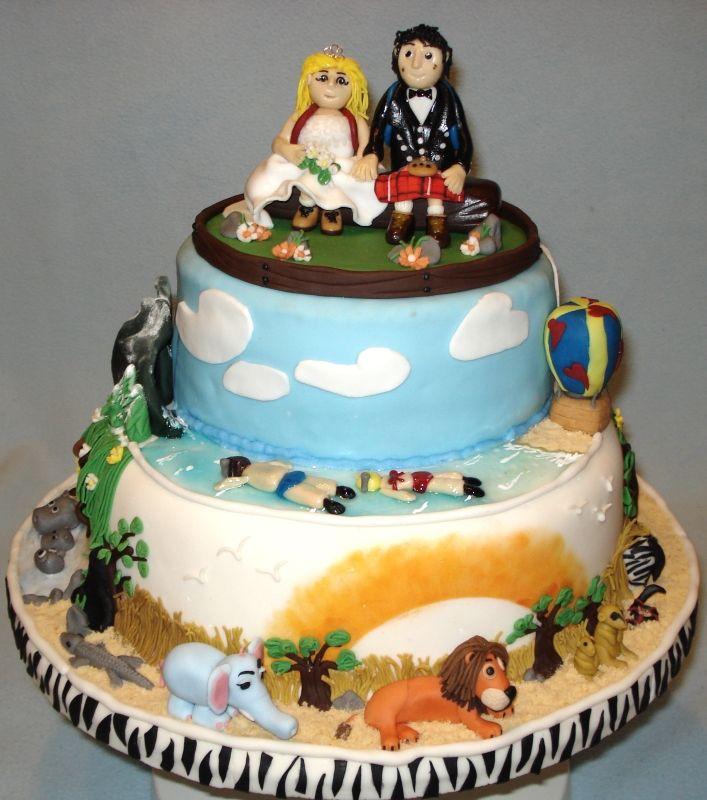 Safari Theme Wedding Cake