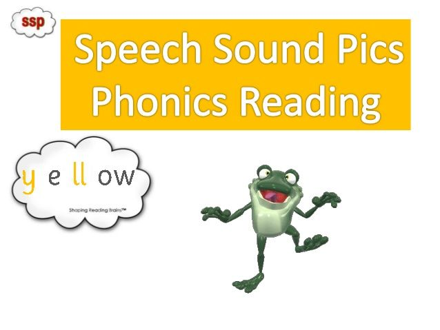 SSP Phonics Reader to check YELLOW Level sound pic knowledge