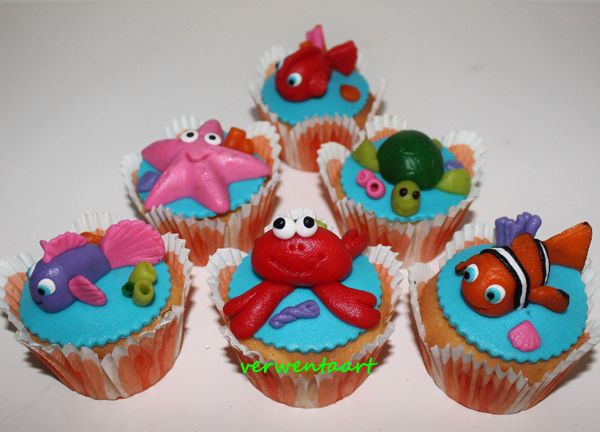 Nemo cupcakes - Verwentaart