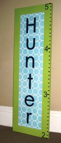 Custom Wall Words Growth Height Chart for Nursery by AllSpelledOut, $85.00: Things Ideas, Grandbabi, Gift, Kiddie, Baby Tots, Height Chart