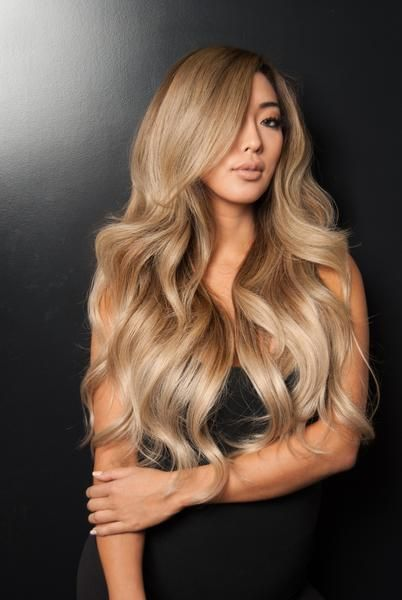 """Balayage 160g 20"""" Ombre Hair Extensions #4 Chocolate Brown/ #18 Dirty Blonde"""
