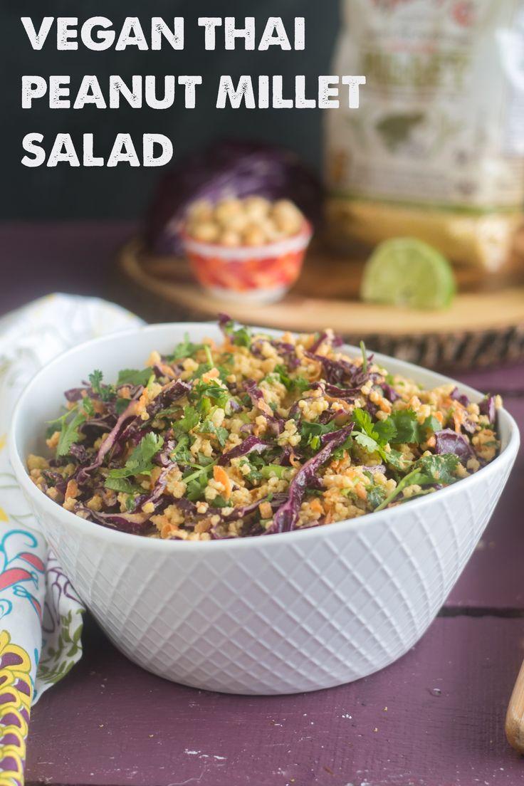 Vegan Thai Peanut Millet Salad
