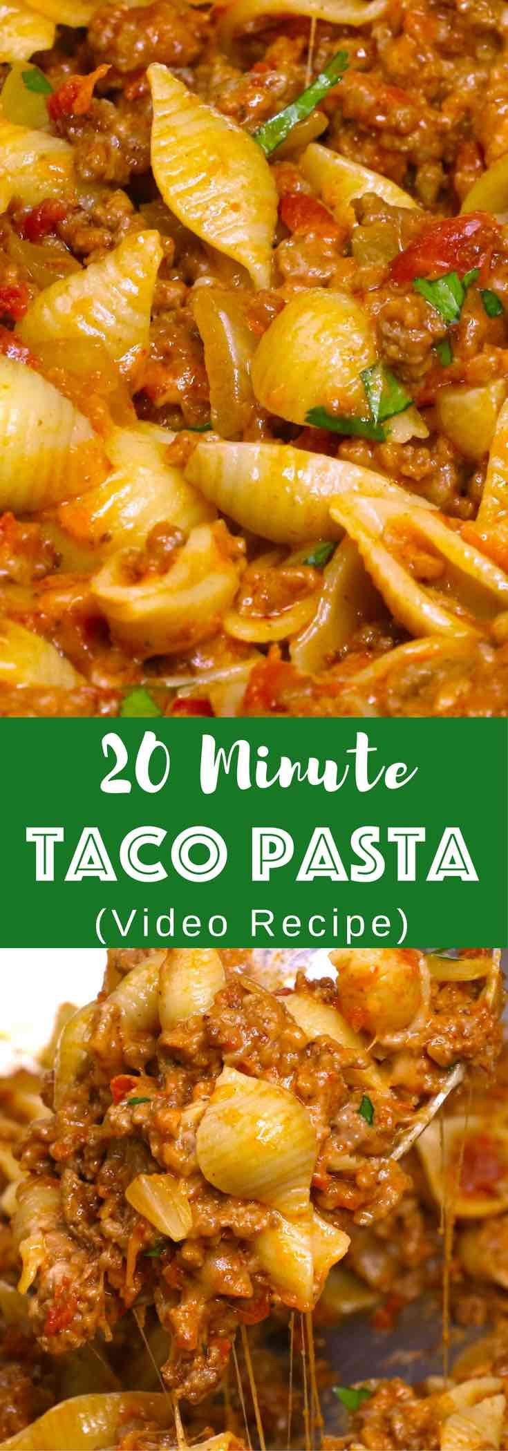 This One-pot Cheesy Taco Pasta is one of the easiest dinner recipes that everyone loves. See how to make it!