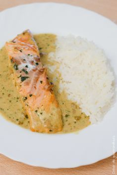 Curry Salmon | Saumon sauce curry