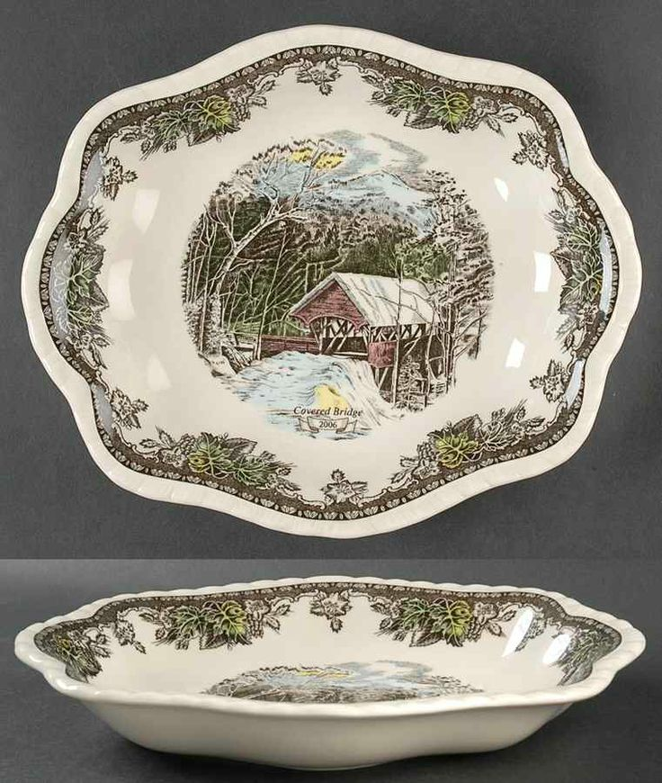 Johnson Brothers Friendly Village The (\ England Annual 2006 Scalloped Dish Fine China Dinnerware Johnson Brothe & 144 best Johnson Brothers Friendly Village images on Pinterest ...