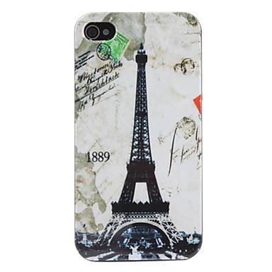 Eiffeltoren patroon harde case voor iPhone 4 en 4s (grijs) – € 2.48