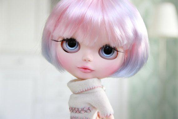 Blythe doll  Opal  OOAK handmade doll van BigEyesBlythe op Etsy