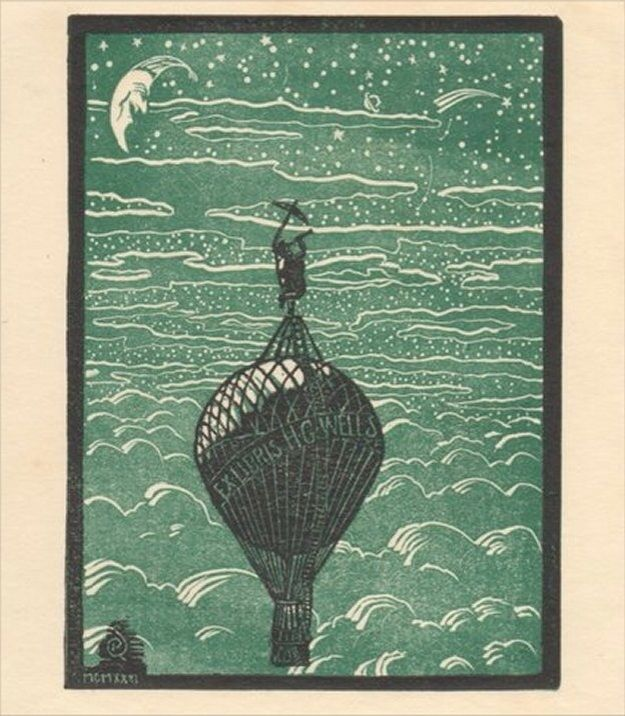 HG Wells' Ex Libris bookplate