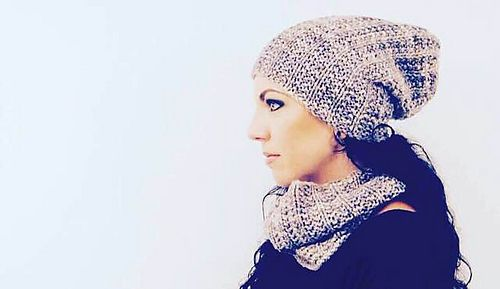 O L D C A S T L E - Hat and cowl design by Lisa Mutch.  Moody Moonstone adds mystique to this unique ribbed set. http://www.ravelry.com/patterns/library/oldcastle