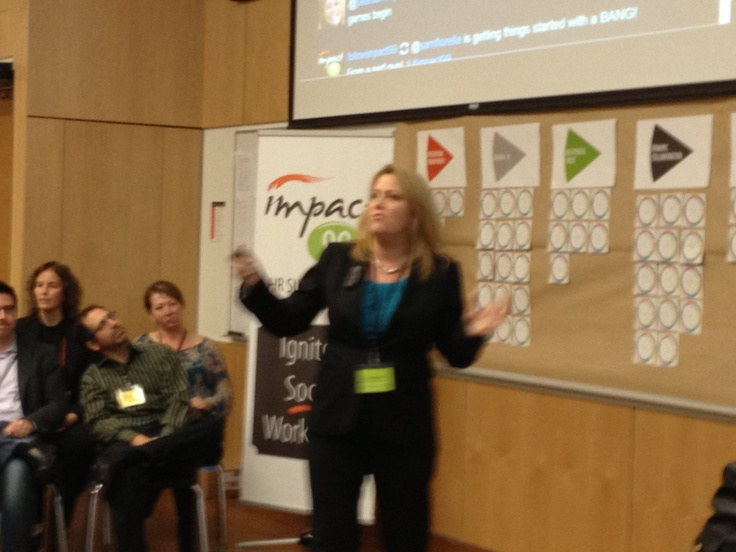 Sandy Gerber in the CEO Think Tank at Impact99 Social Workplace HR summit - http://impact99.ca