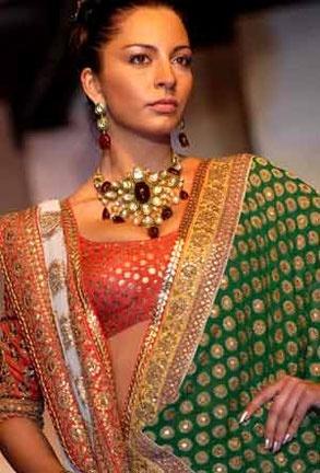 Saree, Blouse, Jewelry