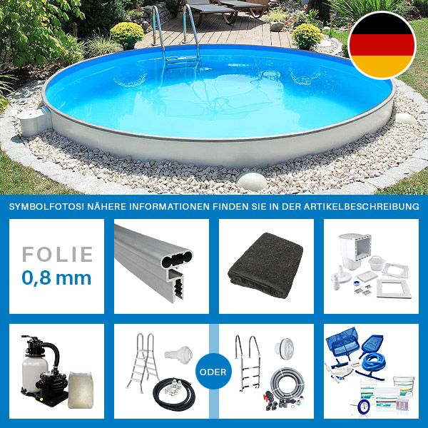 Pool set rund hu74 hitoiro for Rundpool set angebot