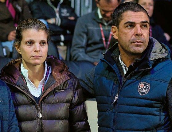 """O cavaleiro Doda e a ex-mulher bilionária Athina Onassis: o divórcio do casal foi apelidado de """"Cavalo de Troia"""" (Foto: Jean Catuffe/WireImage)"""