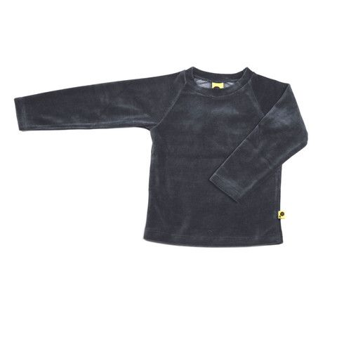 Krutter velour grey top is a great everyday top.  Oeko-Tex standard 100, 87% cotton 13% poly.  A generous light weight top, packs easily to go anywhere.  It is super comfortable and perfect for playdates.  Made in Turkey. Every kid should have one $45.95