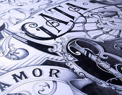 "@Behance portfolio: ""AMOR VINCIT OMNIA - a wedding gift poster"" http://on.be.net/170JnvY"