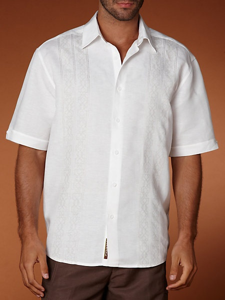 Great Groom's Linen Rayon Embroidered Shirt for casual outdoor wedding