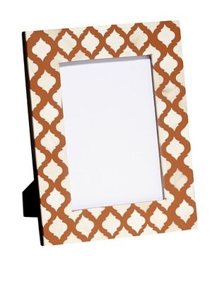 66% OFF Mela Artisans Inlaid Bone Lattice Photo Frame, Terra Cotta, 5