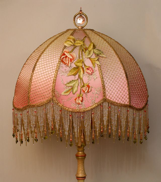 A Stately Traditional Victorian Wood Lamp Base Has Been Hand Painted And  Holds A Hand