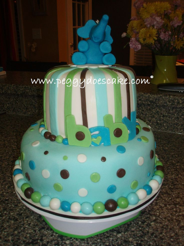 Peggy Does Cake.: Elephant Baby Shower Cake (click photos to enlarge).