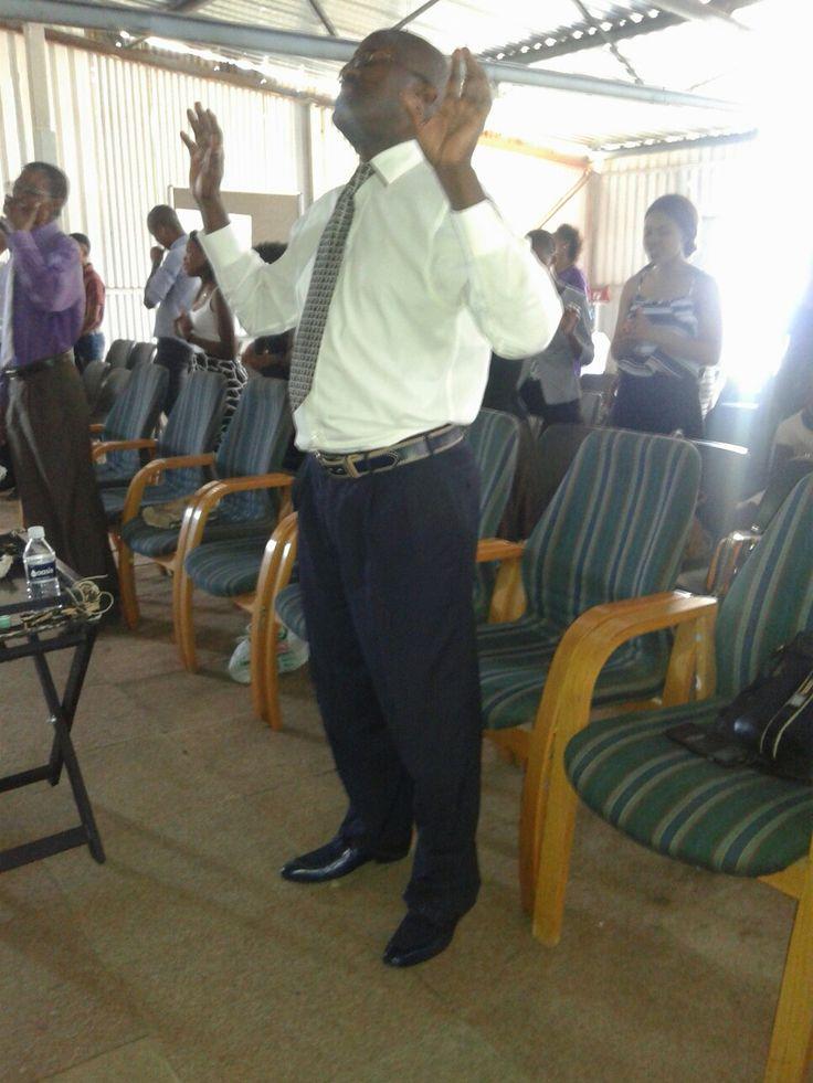 Bishop M Ndakana  Worshipping in His presence
