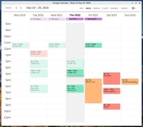 Améliorer le design de Google Agenda avec Clean Google Calendar | Time to Learn | Scoop.it
