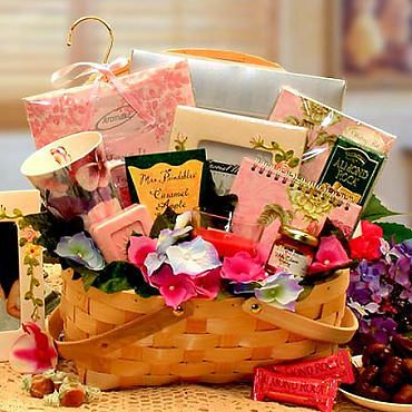 """Bridesmaid Gift Basket with Tumblers 