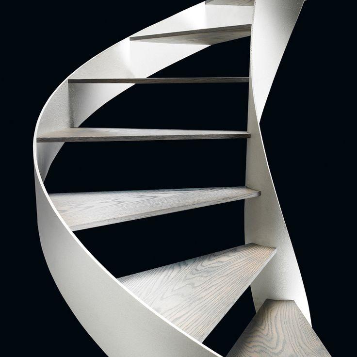 Rizzi's steel spiral staircases. #morfae #rizzi #spiralstaircase #design