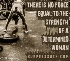 Determined women of Crossfit